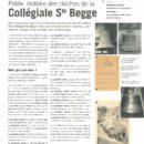 Petite histoire des cloches de la Collégiale Ste Begge