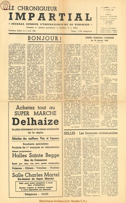 1er annee - n1 - 10 mars 1966