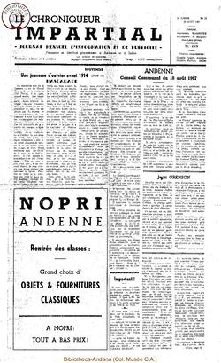 2e année - n19 - 30 août 1967