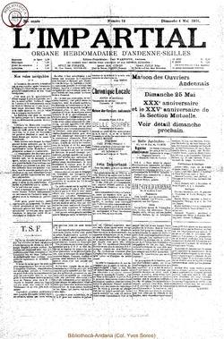 39e annee - n18 - 4 mai 1924