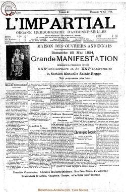 39e annee - n21 - 25 mai 1924