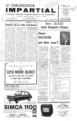 3e année - n31 - 11 septembre 1968 (incomplet)