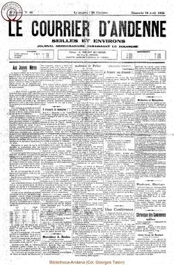 3e annee - n°16 - 18 avril 1926