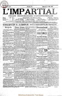 40e annee - n19 - 10 mai 1925