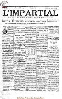 41e annee - n16 - 18 avril 1926