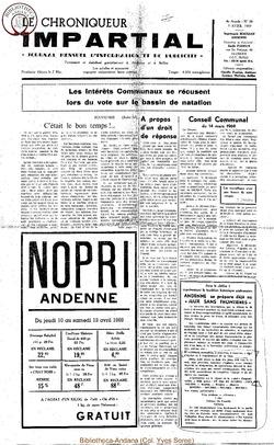 4e année - n38 - 9 avril 1969
