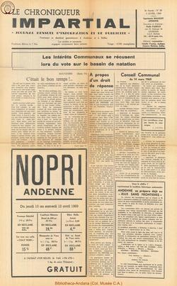 4e annee - n38 - 9 avril 1969