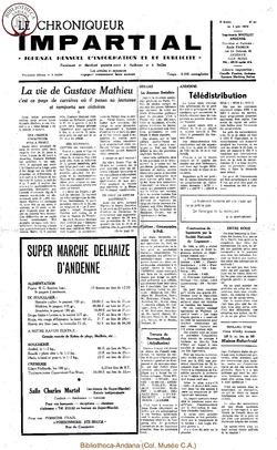 5e année - n52 - 3 juin 1970