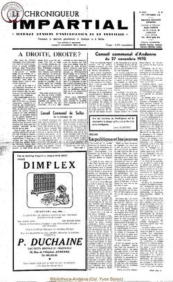 5e année - n58 - 9 décembre 1970