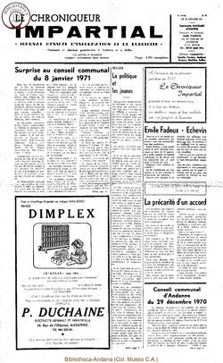 5e année - n59 - 20 janvier 1971
