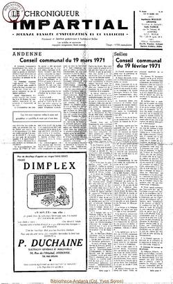 5e année - n61 - 24 mars 1971