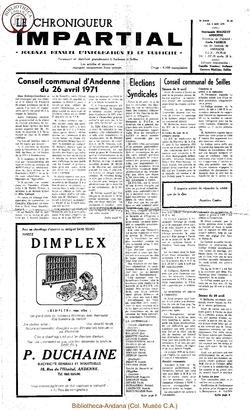 5e année - n62 - 5 mai 1971