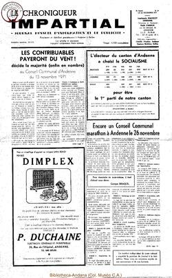 5e année - n69 - 1 décembre 1971