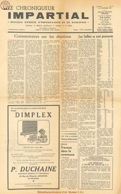 5e annee - n57 - 4 novembre  1970