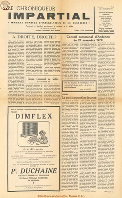 5e annee - n58 - 9 décembre  1970