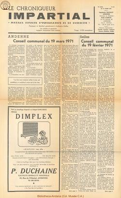 5e annee - n61 - 24 mars 1971
