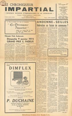 5e annee - n70 - 22 décembre 1971