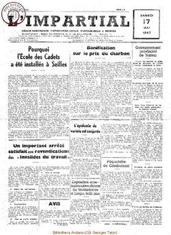 63e annee - n20 -17 mai 1947