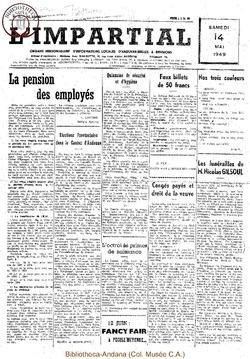 65e annee - n19 - 14 mai 1949