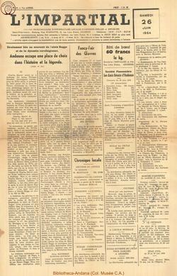 71e annee - n25 - 26 juin 1954