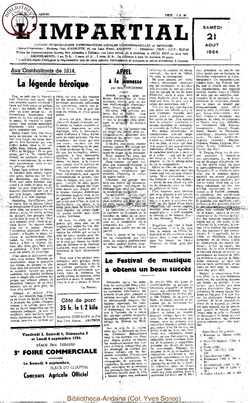 71e annee - n33 - 21 aout 1954