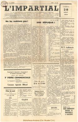 71e annee - n34 - 28 août 1954