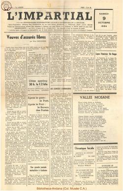 71e annee - n40 - 9 octobre 1954