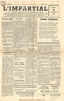 71e annee - n41 - 16 octobre 1954