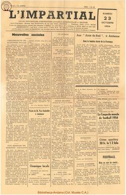 71e annee - n42 - 23 octobre 1954