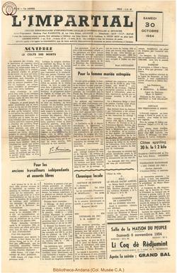 71e annee - n43 - 30 octobre 1954