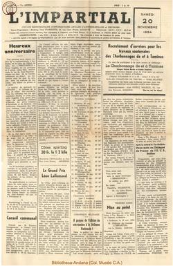 71e annee - n46 - 20 novembre 1954