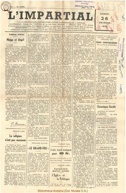 72e annee - n9 - 26 février 1955