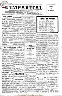 73e annee - n43 - 3 novembre 1956