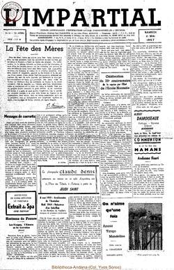 74e annee - n19 - 11 mai 1957
