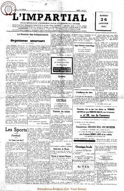 74e annee - n4 - 26 janvier 1957