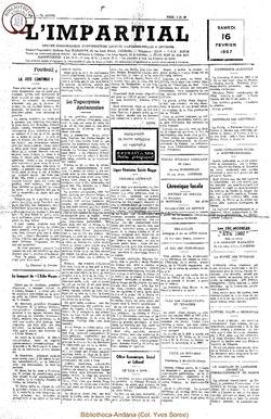 74e annee - n7 - 16 février 1957