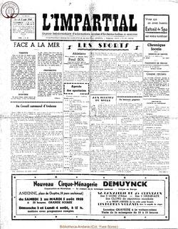 75e annee - n29 - 2 aout 1958