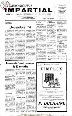 8e année - n102 - 11 décembre 1974