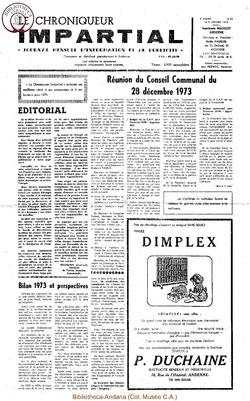 8e année - n93 - 9 janvier 1974