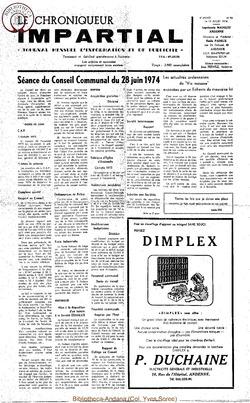 8e année - n98 - 10 juillet 1974
