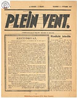 1e année - n°1 - 17 novembre 1944