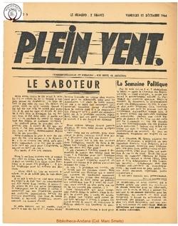 1e année - n°5 - 15 decembre 1944