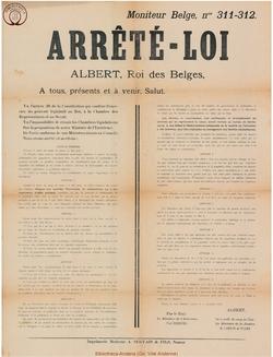 Affiche 1918-11-05