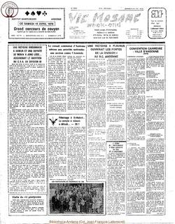 33e annee - n15 - 14 avril 1978