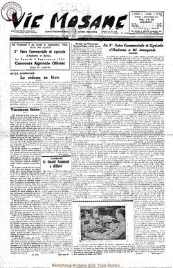 9e annee - n409 - 4 septembre 1954