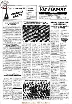 39e année - n°25 - 28 juin 1985