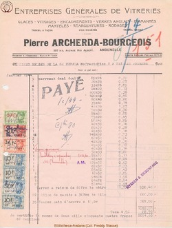 Facture Archerda Bourgeois 1944