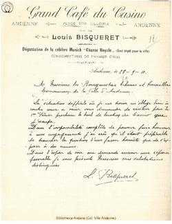 Facture Bisqueret Louis