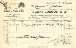Facture Losson & C° 1915