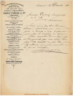 Facture Simon Frères 1880